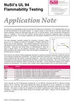 NuSil's UL 94 Flammability Testing PDF